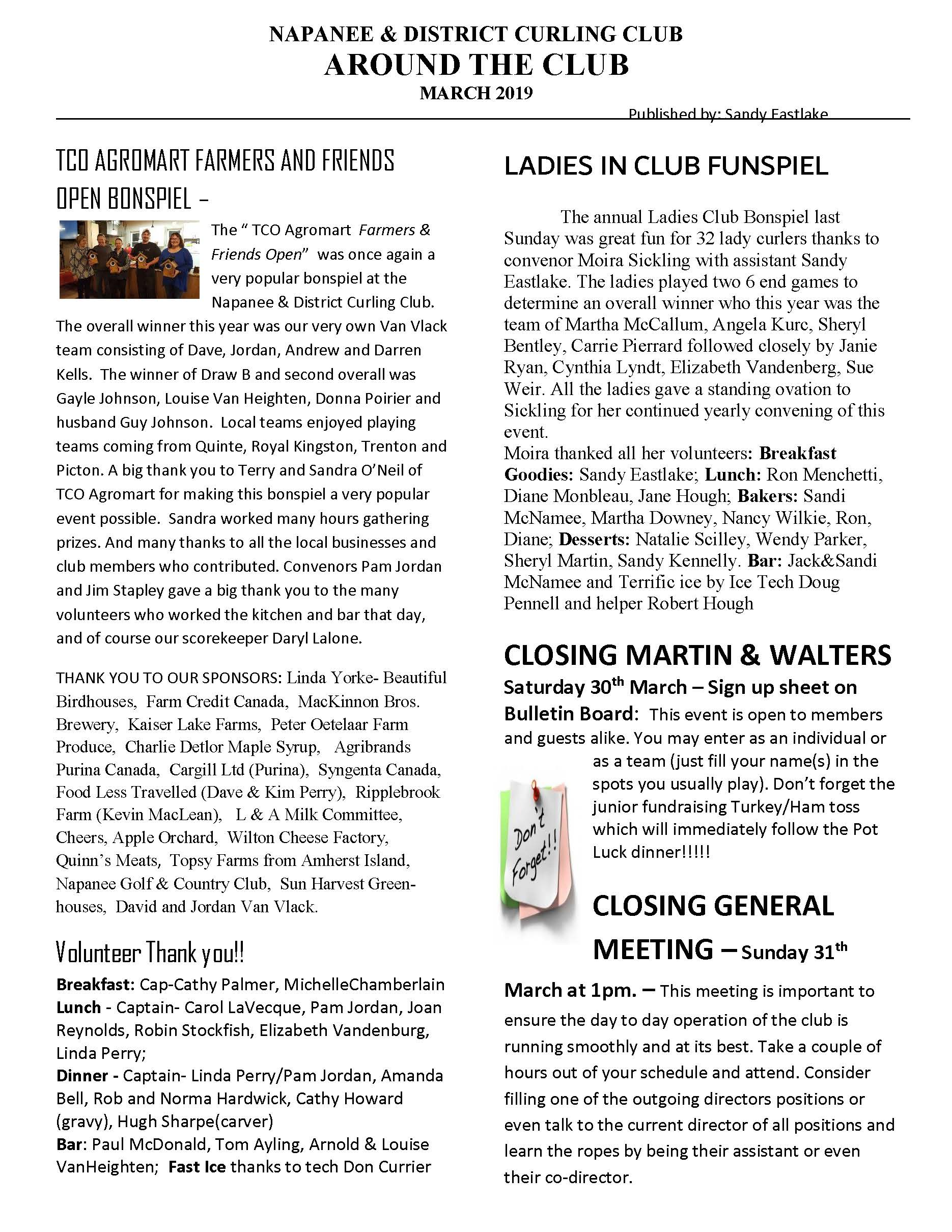 NewsletterMar19 Page 1