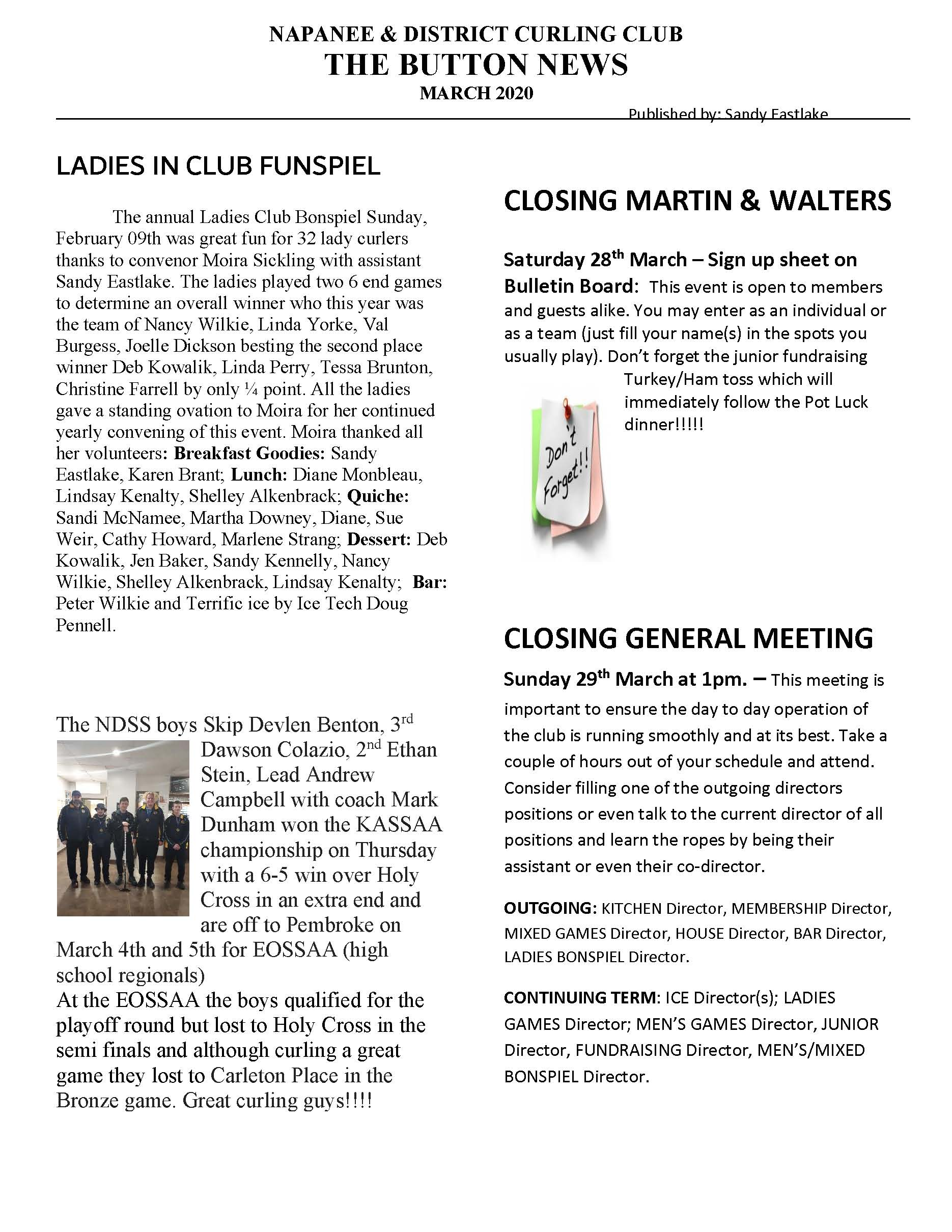 NewsletterMar20 Page 1